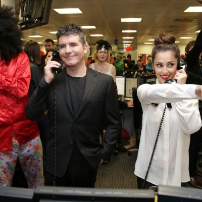 Cheryl, Simon Cowell, Sarah Harding, Dermot O'Leary and more turn out for ICAP Charity Trading Day!