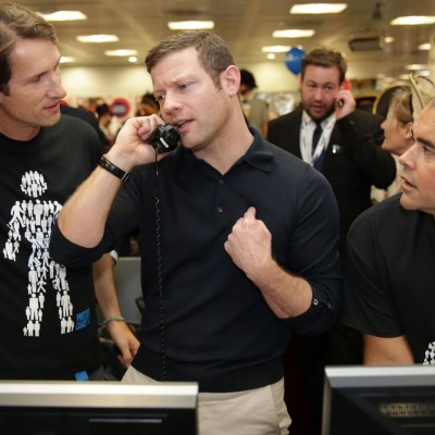 Dermot taking on the traders