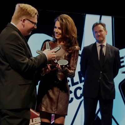Presenting Adrian Maddocks with the Samsung Young Achiever of the Year Award