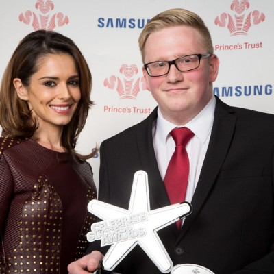 With Adrian Maddocks, the Prince's Trust Samsung Young Achiever of the Year