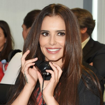LONDON, ENGLAND - SEPTEMBER 11:  Cheryl (C), representing Cheryl's Trust, makes a trade at BGC Charity Day on September 11, 2017 in London, United Kingdom.    Pic Credit: Dave Benett